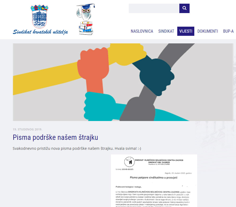 sindikat hrvatskih učitelja